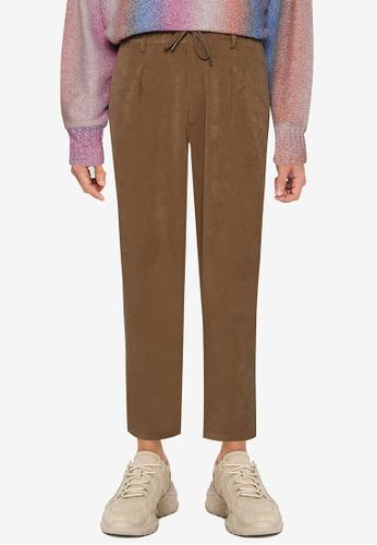 niko and ... brown Drawstring Pants 94F85AAED3CED1GS_1
