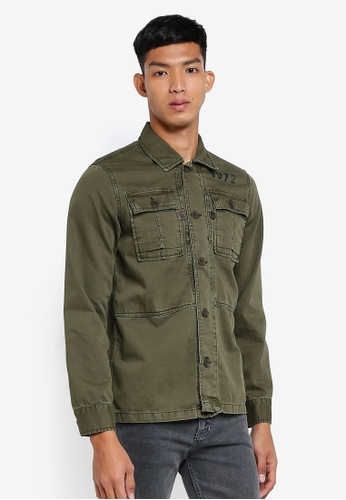 OVS green Field Jacket 8892BAAD063199GS_1