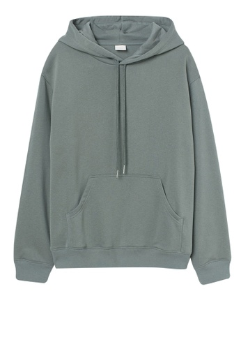 H&M green Hooded top 568D0AAD21812DGS_1