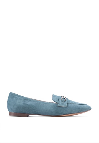 nose green Buckled Loafers 0641DSHF00912EGS_1