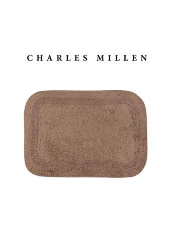 Charles Millen brown SET OF 2 Charles Millen Suite BR-159 Charlie Tufted Bath Rug ( 43cm x 61 cm ) 550g. BBB13HL624116BGS_1