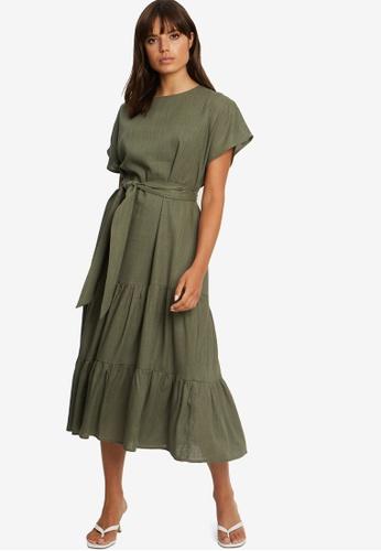 Tussah green Dalton Midi Dress 71C95AA4CE52D6GS_1