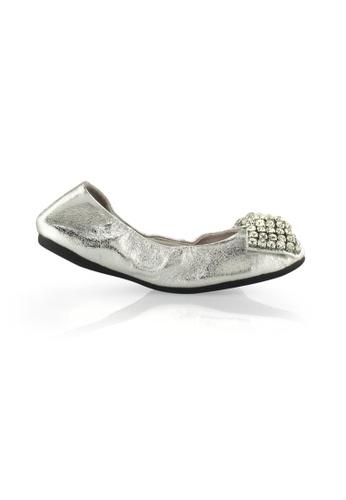 Gripz silver Bliz Metallic Foldable Flats GR357SH53ILISG_1