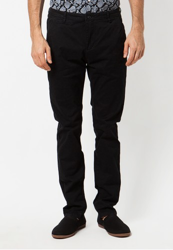 Minarno black Minarno Black Cotton Chino Pants MI641AA28WXBID_1