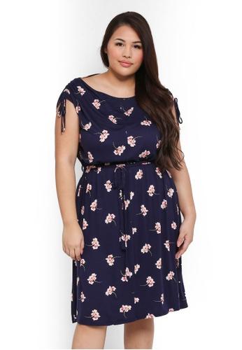 Dorothy Perkins multi Plus Size Ditsy Jersey Midi Dress 1317EAAB48136BGS_1