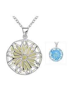 YGN001-C Round Design Pendants Necklaces with Night Fluorescent Blue Party Jewelry