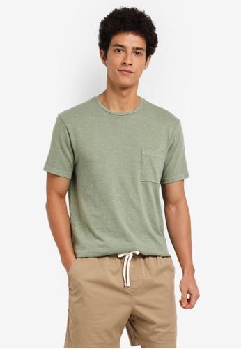 J.Crew green Men's Slim Garment Dye Slub Jersey Tee 5298BAAB7EBAEEGS_1