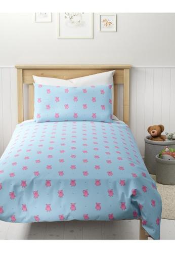 MARKS & SPENCER blue M&S Cotton Mix Percy Pig Bedding Set (Single) 4E3B1HLD534A0BGS_1