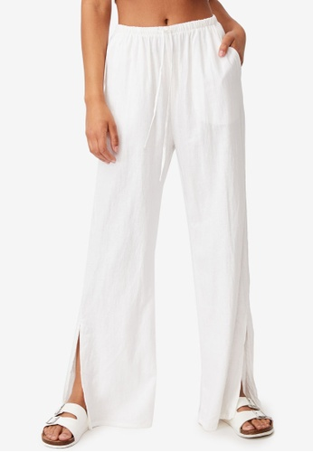 Cotton On white Getaway Pull On Pants F1684AAD9C71DDGS_1