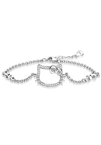 YOUNIQ silver YOUNIQ Kitty 925 Sterling Silver Bracelet YO999AC58NOZMY_1