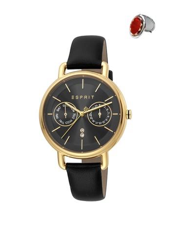 Esprit Watches black and gold Jam Tangan Esprit Jam Tangan Wanita ES1L179M0125 Original 2BB39AC736D3D5GS_1