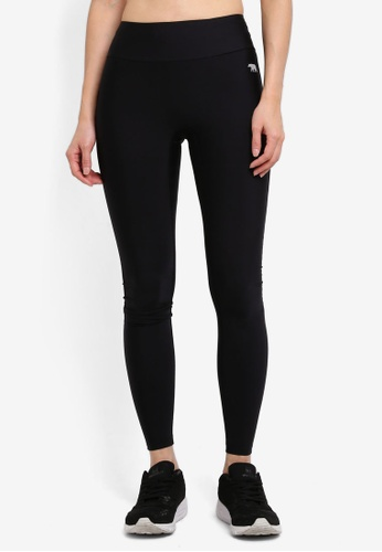 Running Bare black Full Length Tights With Hip Pocket C4396AA0DF2D4AGS_1