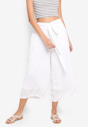 Supre white Ruby Crop Tie Waist Pants 93C1CAA302629CGS_1