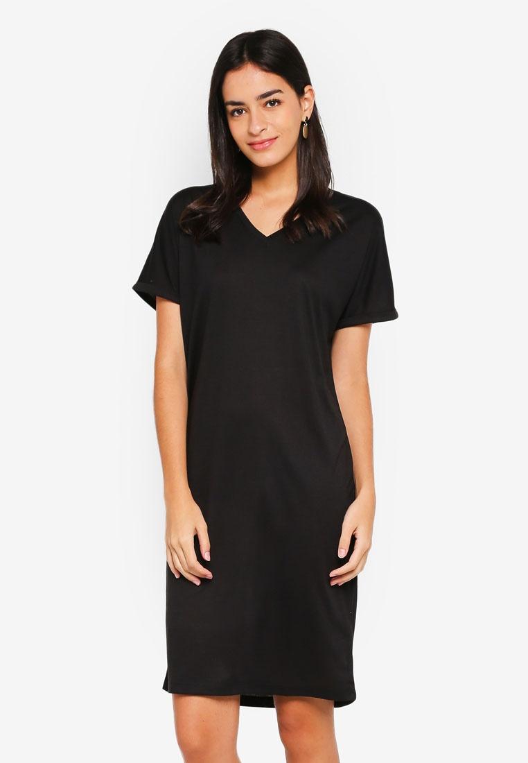 67759c3aa22eb Neck V Dress ZALORA Black Shift Basic O70qwP8 --hidayatuladhom.com