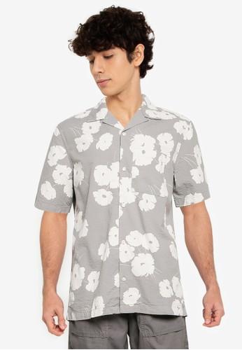 Gap grey Seersucker Camp Collar Shirt C8C69AA55067B0GS_1