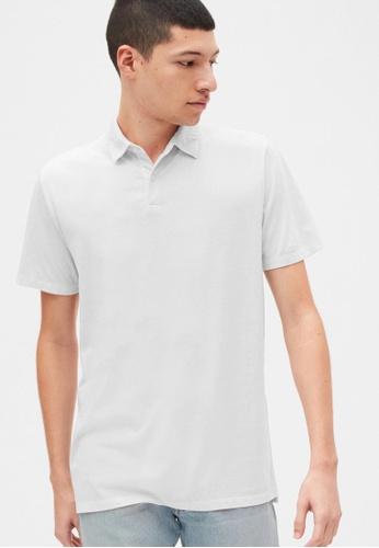 Gap white Vintage Soft Polo Shirt 4EC2BAAB9AE4CFGS_1