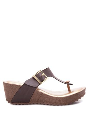 Terra Agua Brown Wedge Sandals Te240sh07cpgph 1