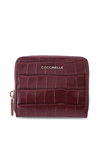 Coccinelle 紅色 and 褐色 金屬感Croco 皮包 4FFAEAC5ECBBD7GS_1