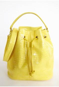 Crocodile Skin Bucket Bag