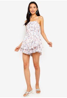 3daf7301e390 11% OFF INDIKAH Tiered Ruffle Hem Floral Playsuit S  94.77 NOW S  83.90  Sizes 6 8 10 12