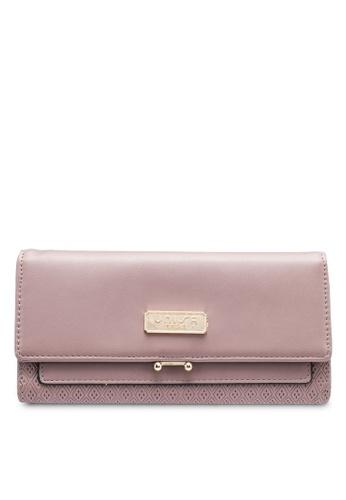 Unisa purple Debossed Tri-Fold Ladies Wallet 1BA0EAC458173AGS_1