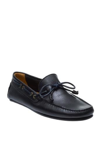Sebago black Tirso Tie Boat Shoes F880ESH589CE0FGS_1