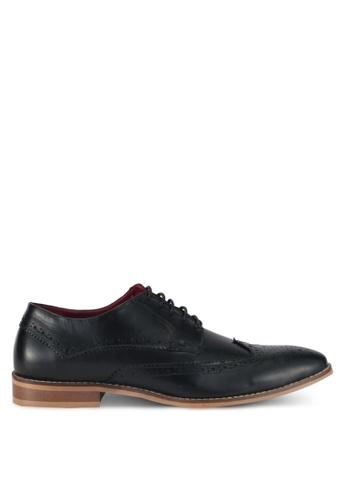 Acuto black Wingtip Leather Dress Shoes AC283SH0SL6VMY_1