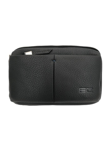 Enrico Coveri black JET.L-03 Travel Clucth C72C6ACDB89D44GS_1