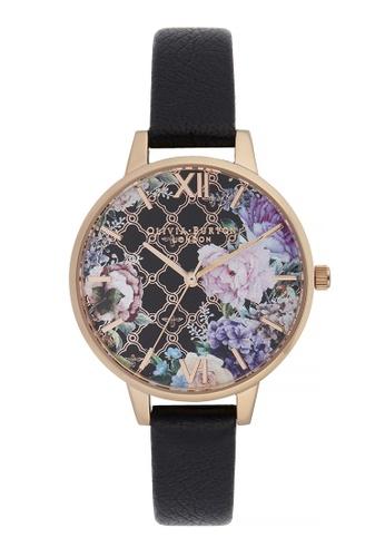 Olivia Burton gold Olivia Burton Glasshouse BLACK 34mm Women's Watch EF24BACFE72BD5GS_1