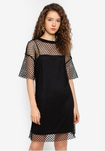 Glamorous black Black Mini Mesh Dress 1DD78AA0EC7C3AGS_1