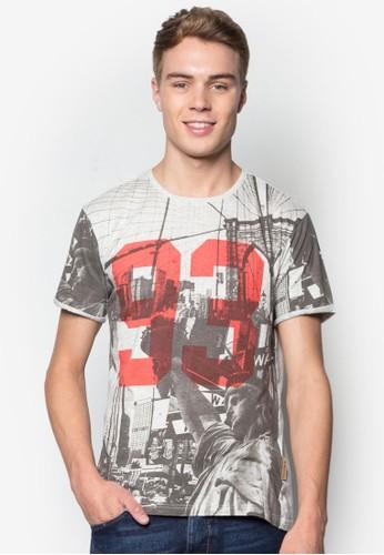 Jeffrey 數字esprit tw印花TEE, 服飾, T恤