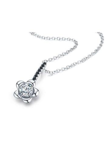 A-Excellence white Premium Elegant White Sliver Necklace B0483ACB0E2242GS_1