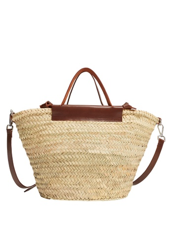 Mango brown Leather Handmade Maxi Basket Bag 2BE77ACD690752GS_1