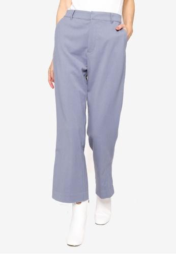 GLOBAL WORK blue Casual Woven Pants 664F5AAFE38A0EGS_1