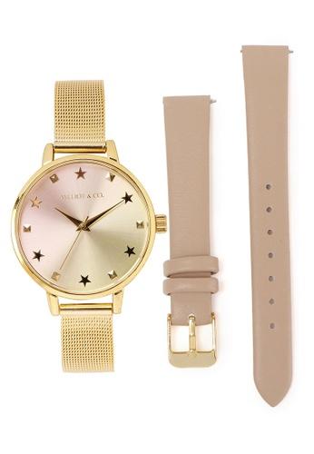 Milliot & Co. 金色 紫色 手錶 With 2 Straps EFE12AC5615304GS_1
