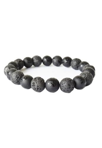 Memento Collection black Lava Stone Tibetan Six Words Mantra Bracelet BDEC4AC27EB7EEGS_1