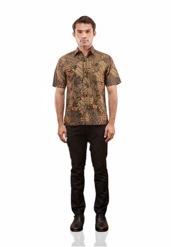 TUSCA brown Eusoff Premium Batik Shirt A314BAA3B9AA73GS_1