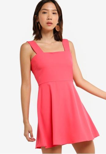 Something Borrowed 橘色 Sleeveless Fit & Flare Dress F88AEAA04C7BD4GS_1