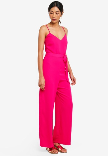 Dorothy Perkins pink Strappy Jumpsuit 5E082AAD8E8F66GS_1