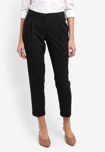 Dorothy Perkins black Regular Black Peg Trousers 4C84BAA38BF7CAGS_1