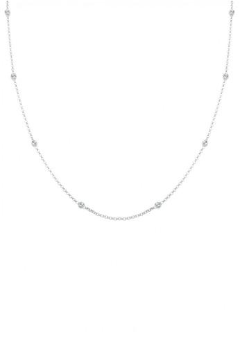 Elli Germany white Perhiasan Wanita Perak Asli - Silver Kalung Basic Crystal 892EAACF1B77BFGS_1