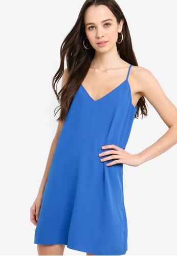 Something Borrowed 藍色 Camisole Slip Dress 558F9AAB2016FEGS_1