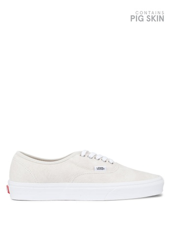 VANS white Authentic Pig Suede Sneakers 51B5FSH232EDAAGS_1