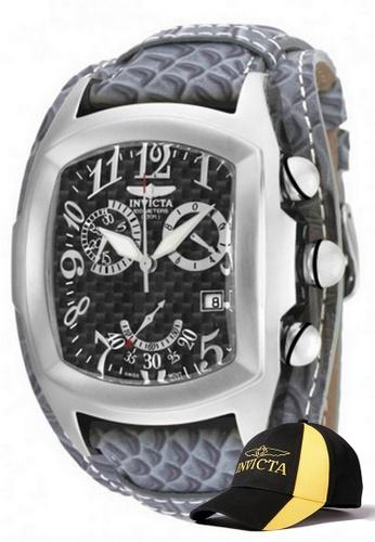 INVICTA silver Invicta Lupah Men Swiss Quartz Chronograph 47mm  Watch 90263 w/ Free Official Baseball Cap F4B05ACC57BCCDGS_1