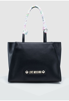 3862414a1 Love Moschino black Soft Grain Shoulder Bag E0573AC2735AFFGS_1