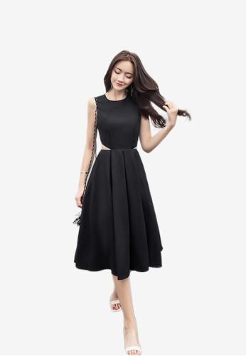 Lara black One piece Dress for Women 7C1A6AABFAA3F0GS_1