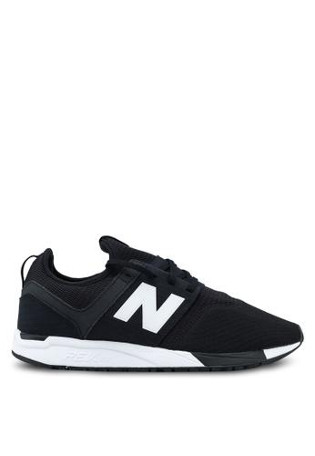 New Balance black 247 Lifestyle Sneakers NE323SH0SW9HMY_1