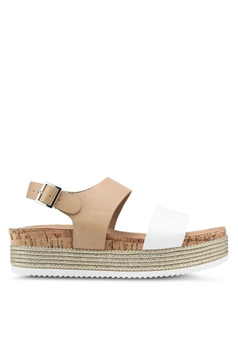 Call It Spring white Grirecia Wedges Sandals AB5C1SHABF43E6GS_1