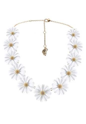 kate spade new york white Into The Bloom Necklace (cv) 83935AC27F9EF4GS_1