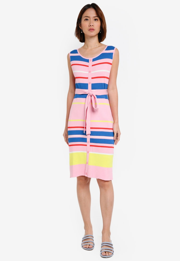 Pink Multi Stripe NAIN Knit Dress RFRIq